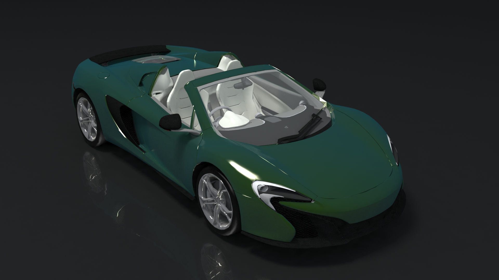 mclaren in green colour 3d model 3ds 3ds 264642