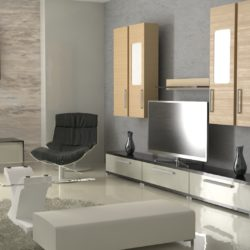 Interior Design 3d model render ready