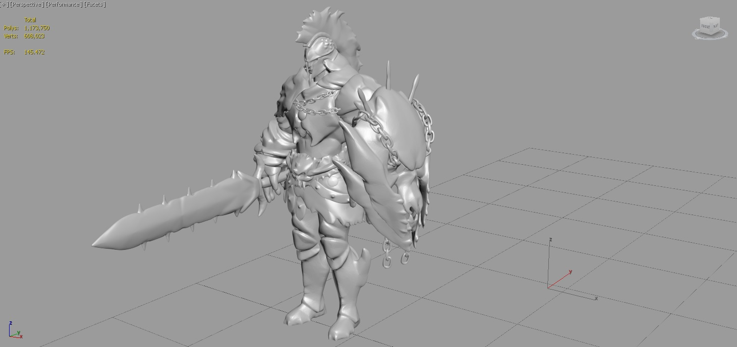 ares character – smite pc game 3d model max obj 264662