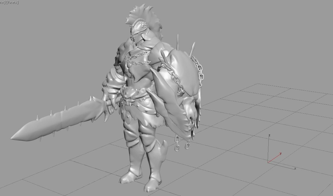 Ares character - Smite pc game 3d model render ready max obj