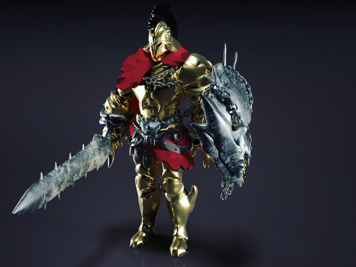 Ares character - Smite pc game 3d model 0
