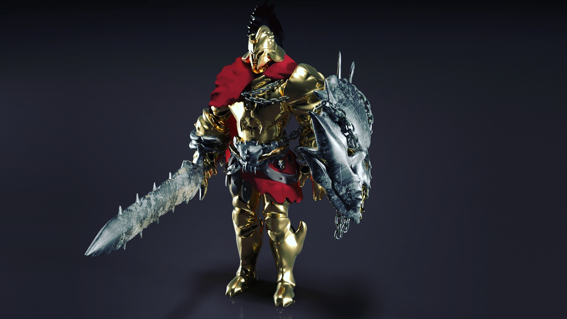 Ares character - Smite pc game 3d model max obj 264664