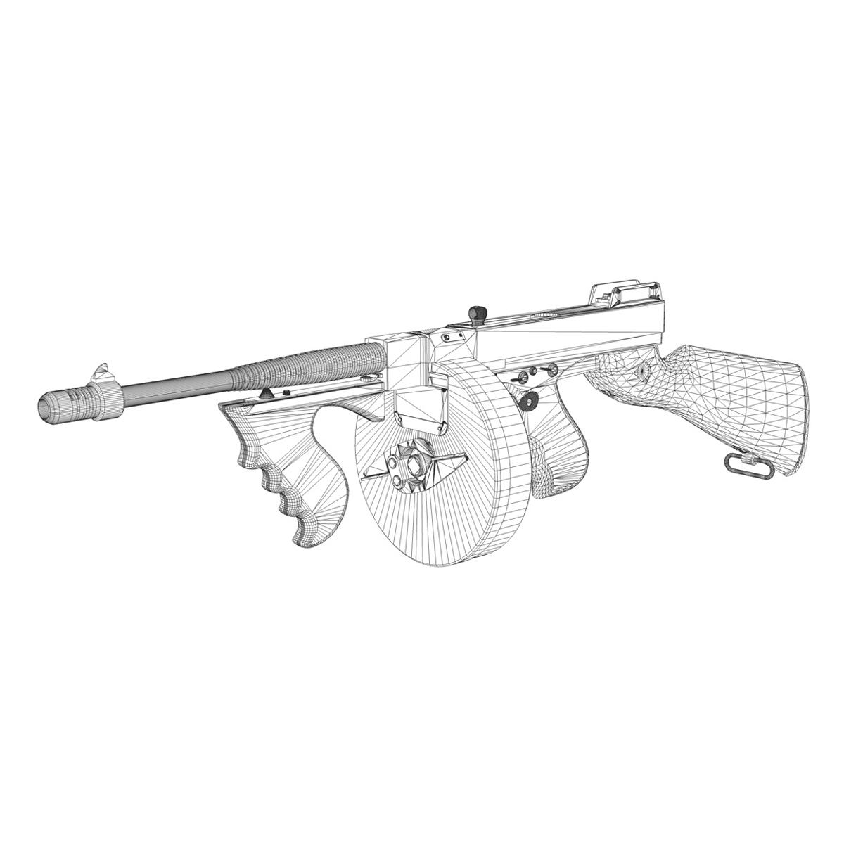 ead2f2bb9e1d thompson model 1928 submachine gun 3d model 3ds c4d lwo obj 264696. Long  Description