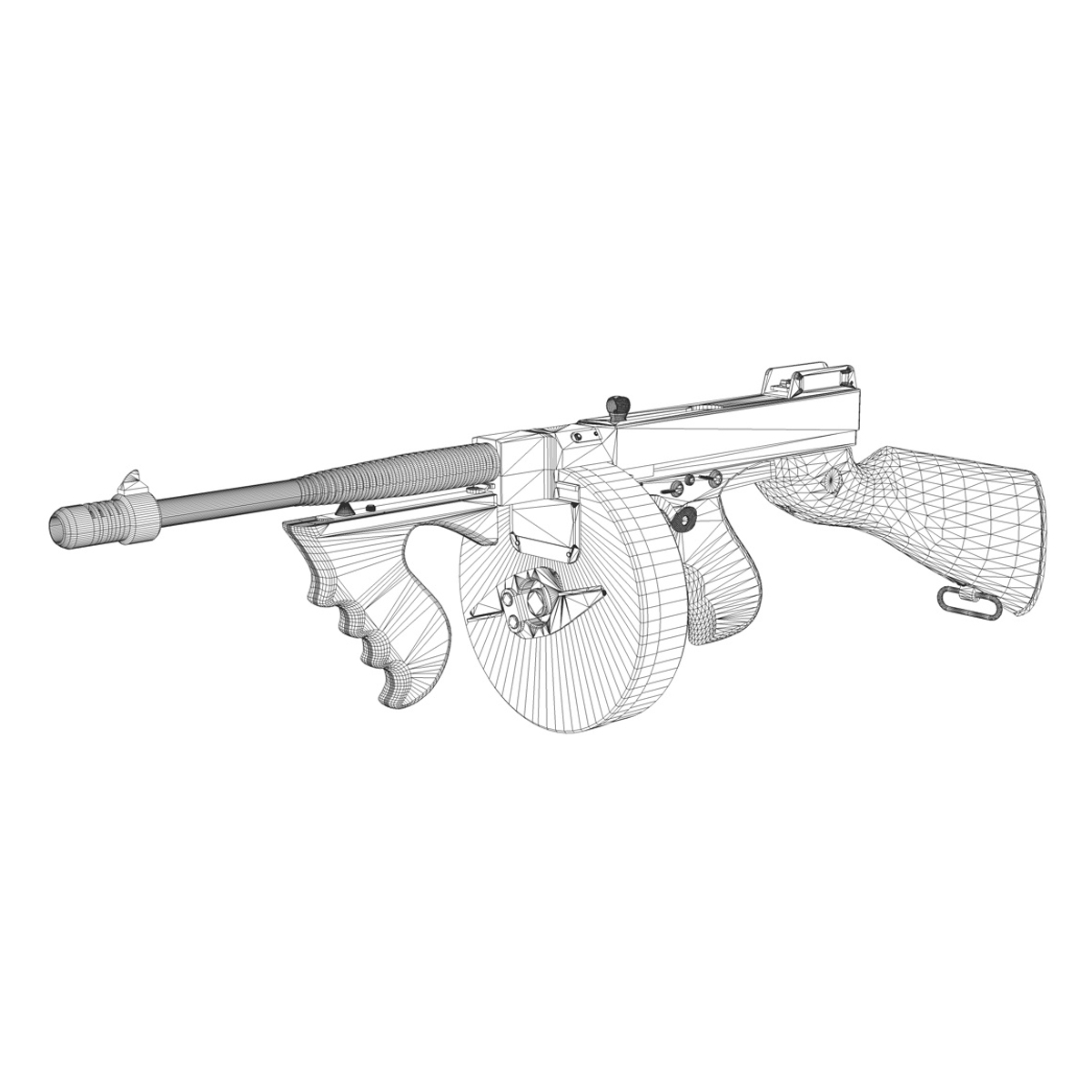model 1928 strojnica 3d model 3ds c4d lwo obj 264696