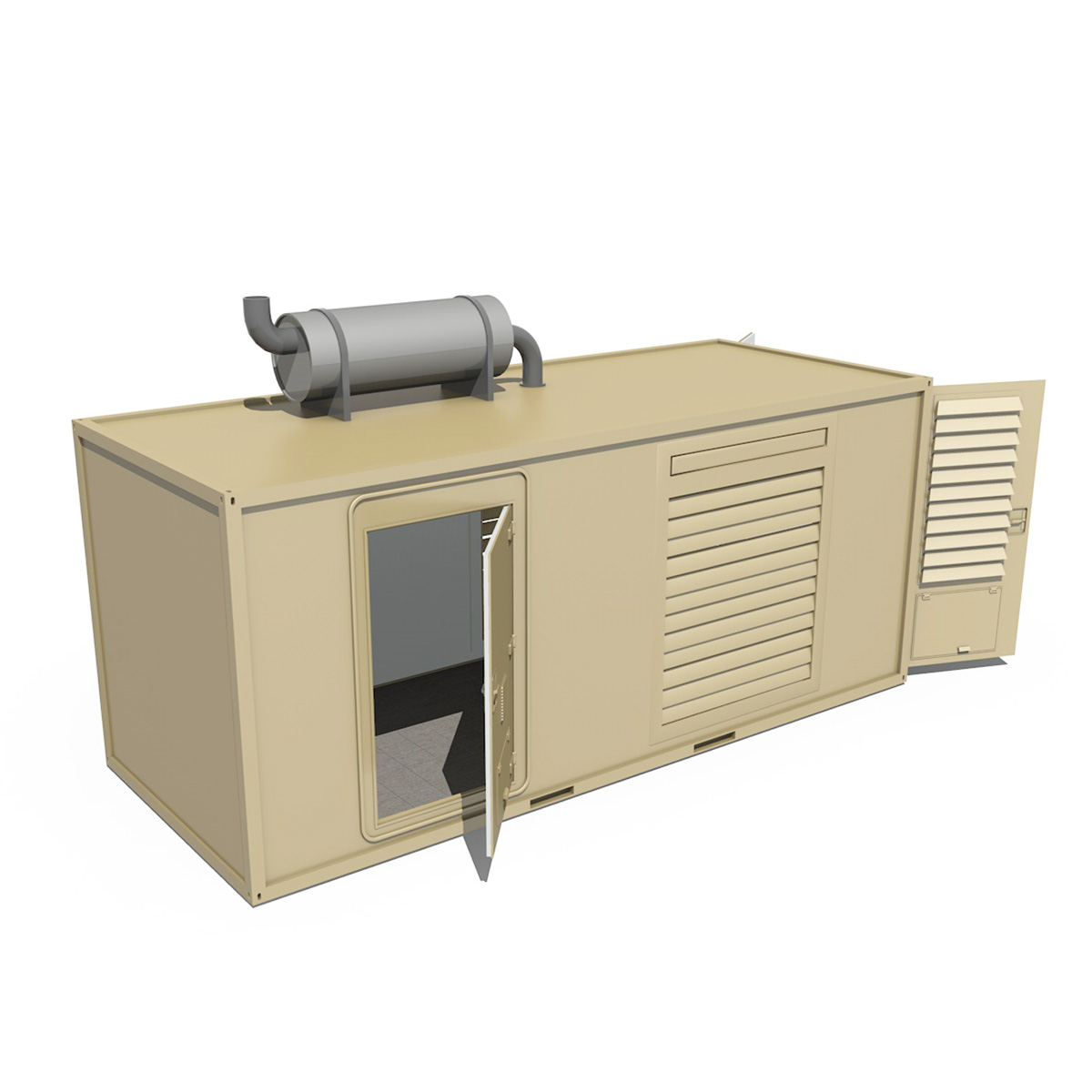 20ft generator container version 1 3d model 3ds c4d fbx lwo lw lws obj 264723
