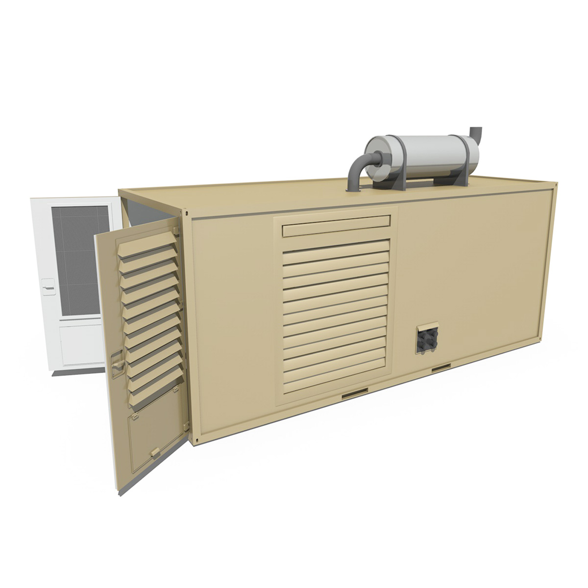 20ft Generator Container Version 1 3d Model Buy 20ft