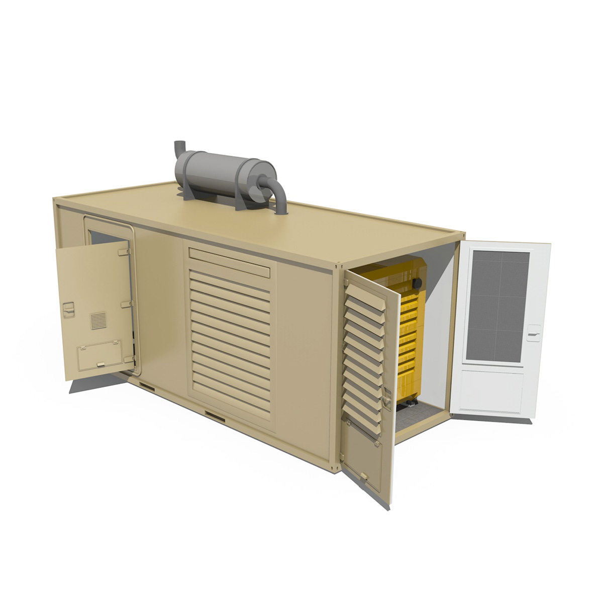 20ft generator container version two 3d model 3ds c4d fbx lwo lw lws obj 264739