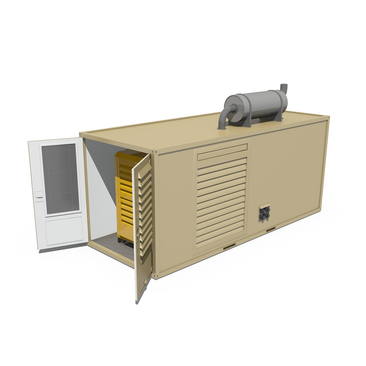 20ft generator container version two 3d model 3ds c4d fbx lwo lw lws obj 264741