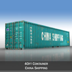 40ft Shipping Container - China Shipping 3d model high poly