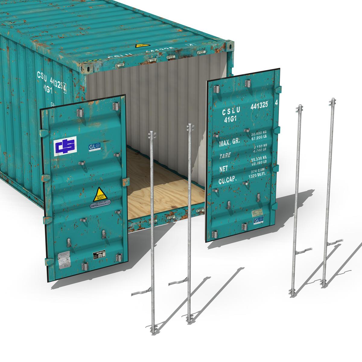 40ft тээврийн чингэлэг - Хятад тээвэрлэлтийн 3d загвар 3ds fbx II lws о о о c4d 264931