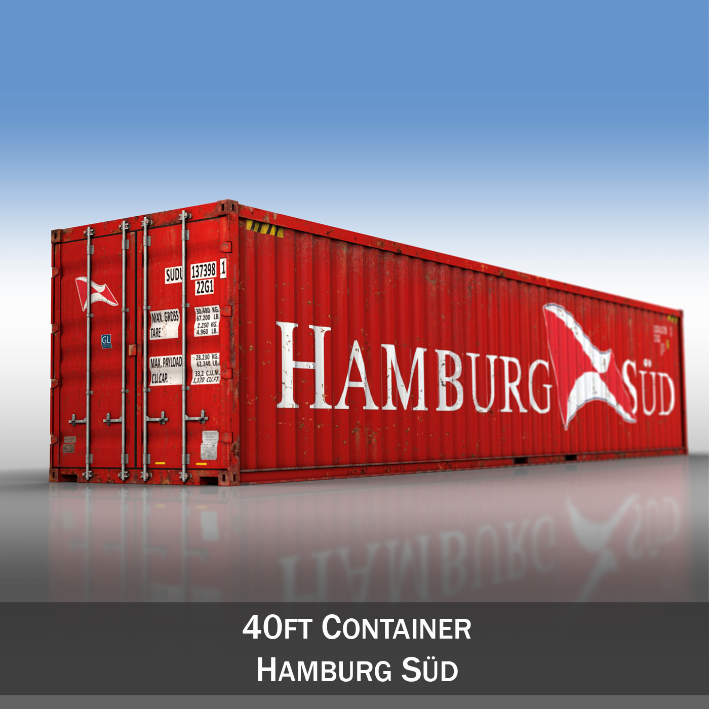 40ft shipping container – hamburg sued 3d model 3ds fbx lwo lw lws obj c4d 264940