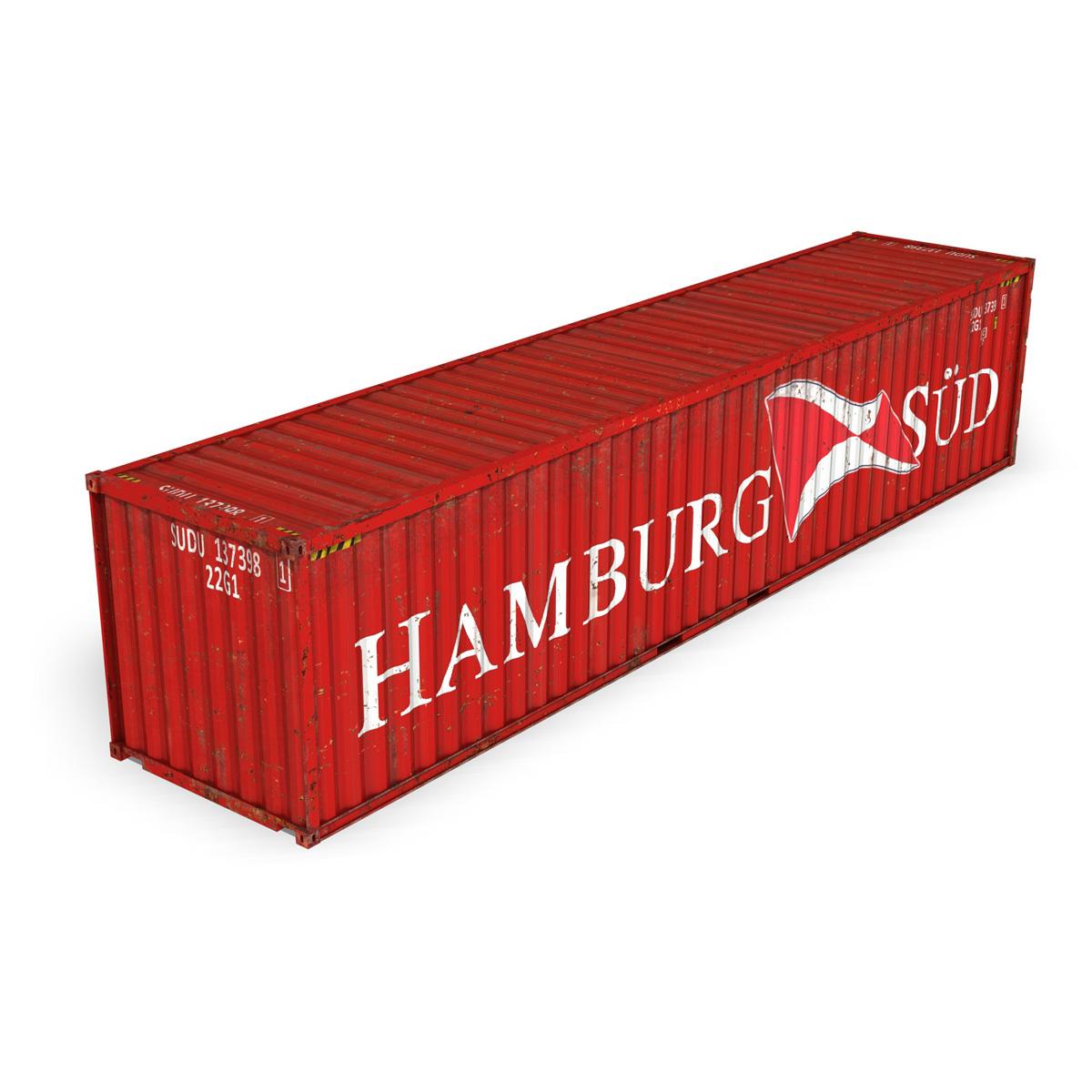 40ft coimeádán loingseoireachta - hamburg inagartha 3d múnla 3ds fbx lwo lw lj obn cxNUMXd 4