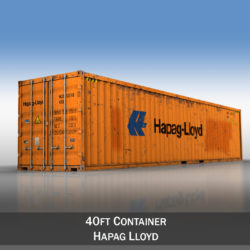 40ft Shipping Container - Hapag Lloyd 3d model high poly