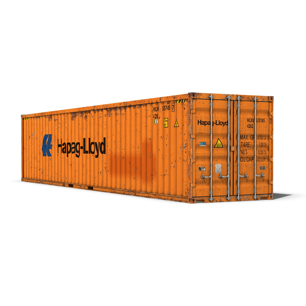 40ft тээврийн чингэлэг - hapag lloyd 3d загвар 3ds fbx lwo lws obj c4d 264959