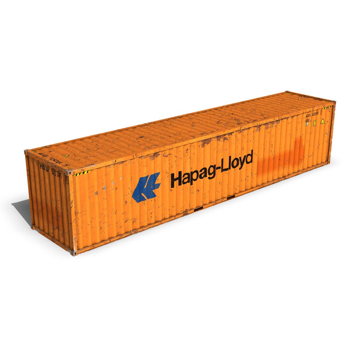 40ft тээврийн чингэлэг - hapag lloyd 3d загвар 3ds fbx lwo lws obj c4d 264962