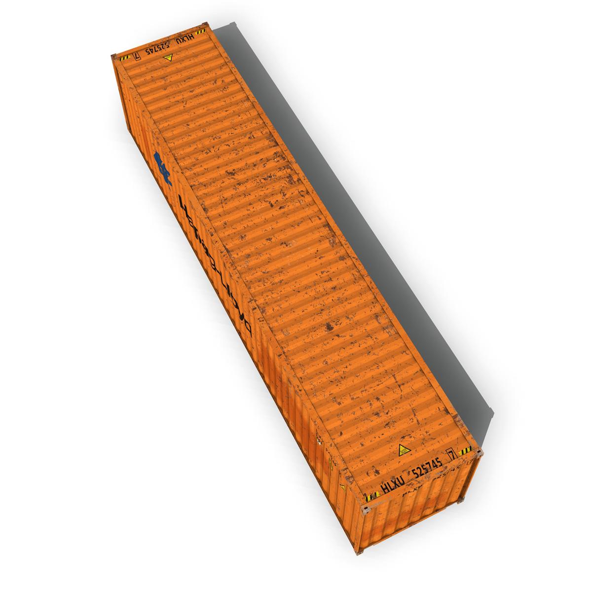 40ft тээврийн чингэлэг - hapag lloyd 3d загвар 3ds fbx lwo lws obj c4d 264963