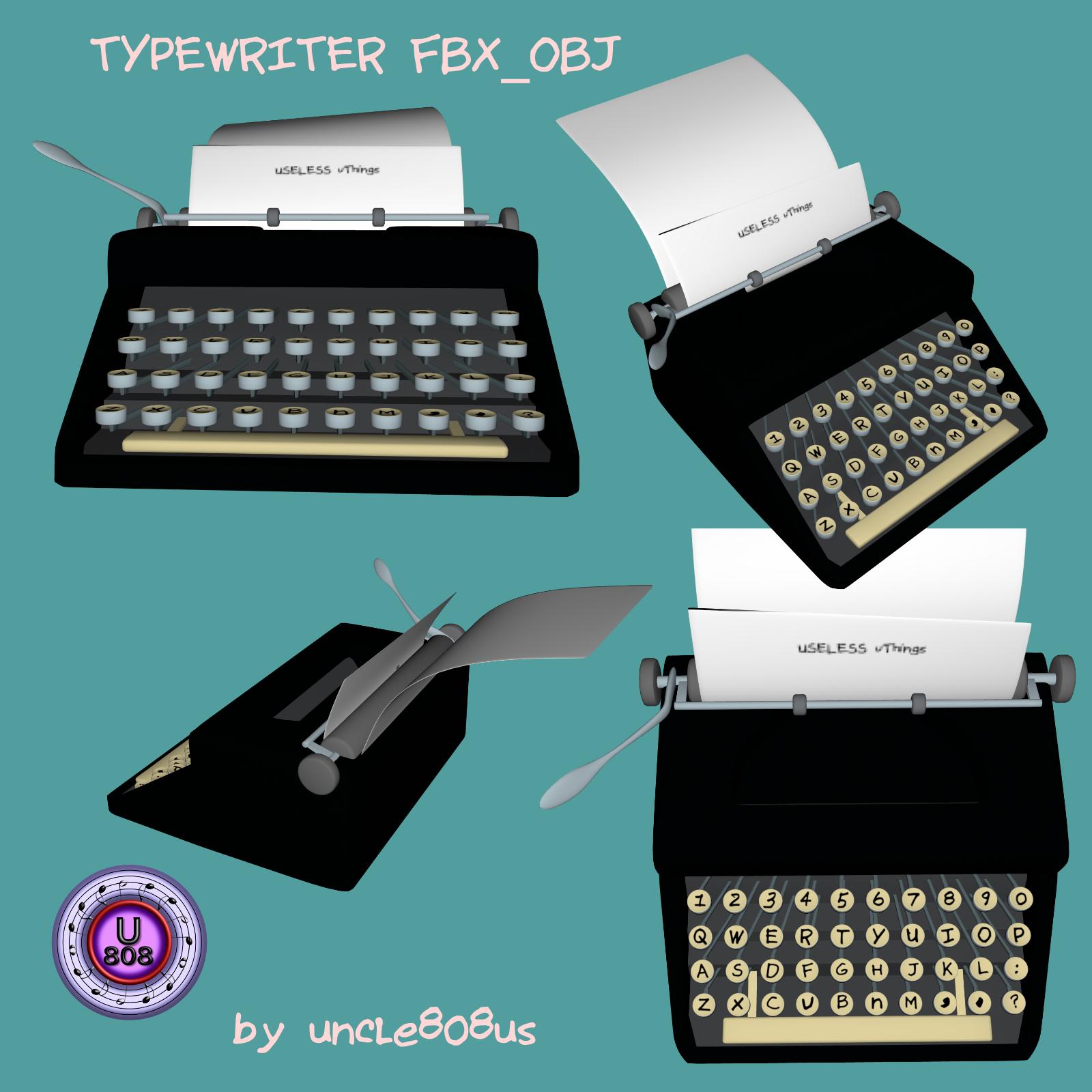 Typewriter_Old FBX OBJ 3d model fbx 264970