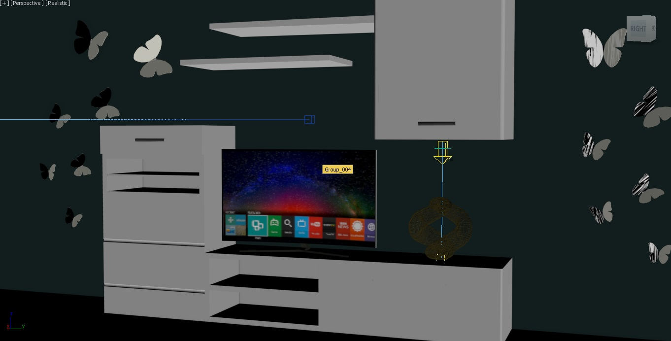 wardrobe and wall design 3d model 3ds dwg obj max 265048