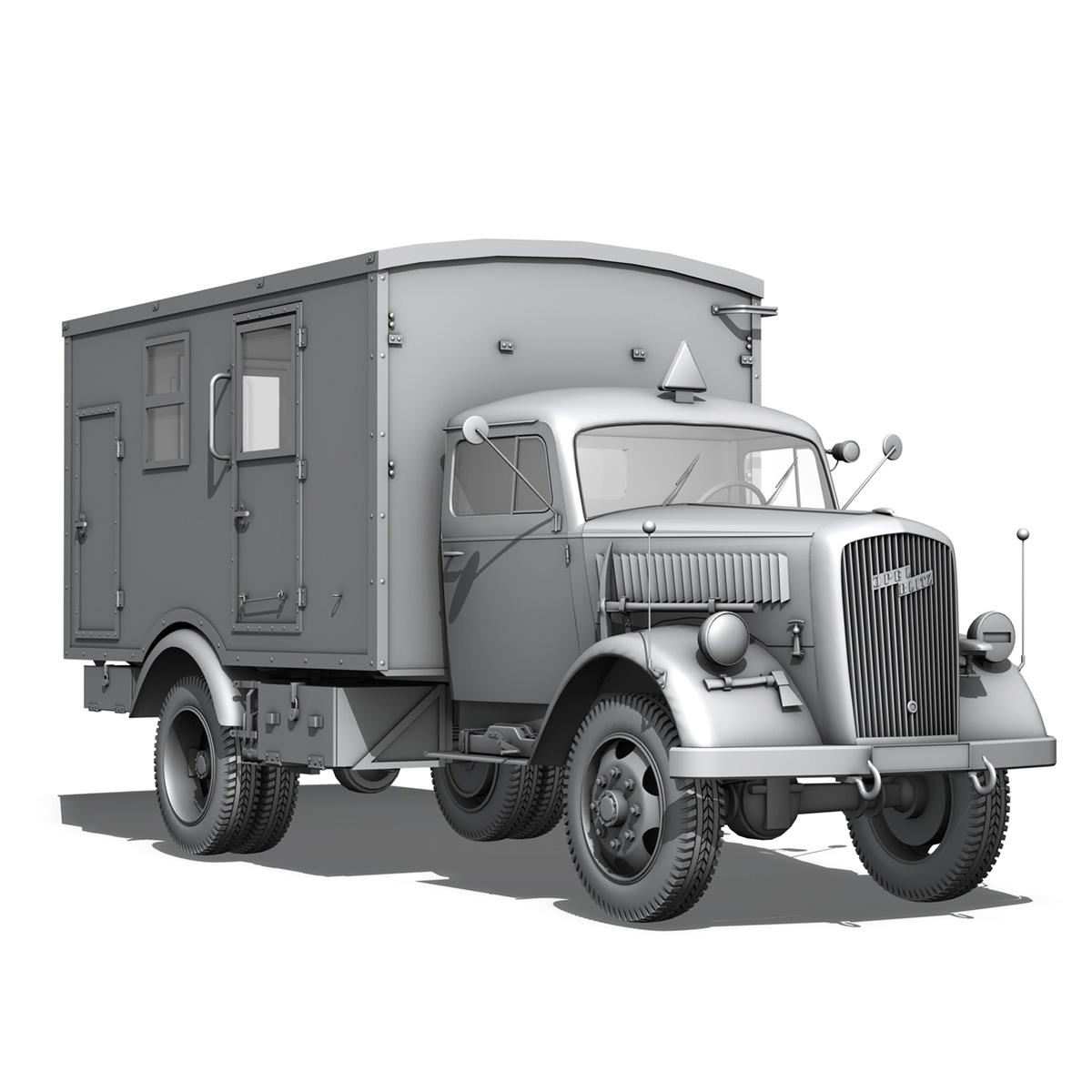 opel blitz - 3t kravas automašīna ar kofferaufbau 3d modelis c4d lwo obj 265074