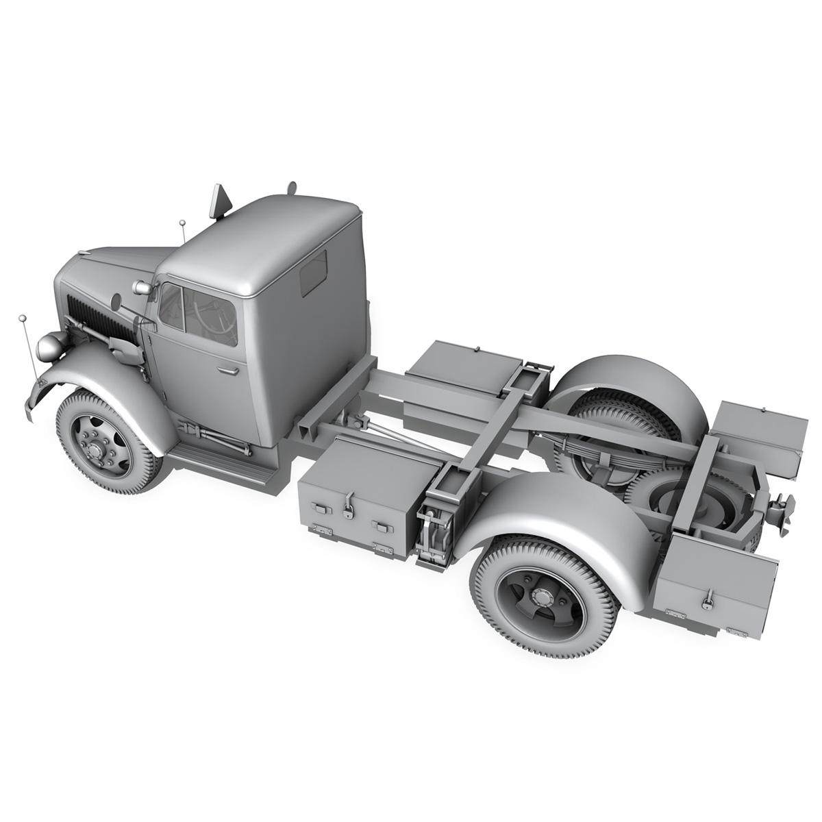 opel blitz - 3t kravas automašīna ar kofferaufbau 3d modelis c4d lwo obj 265075