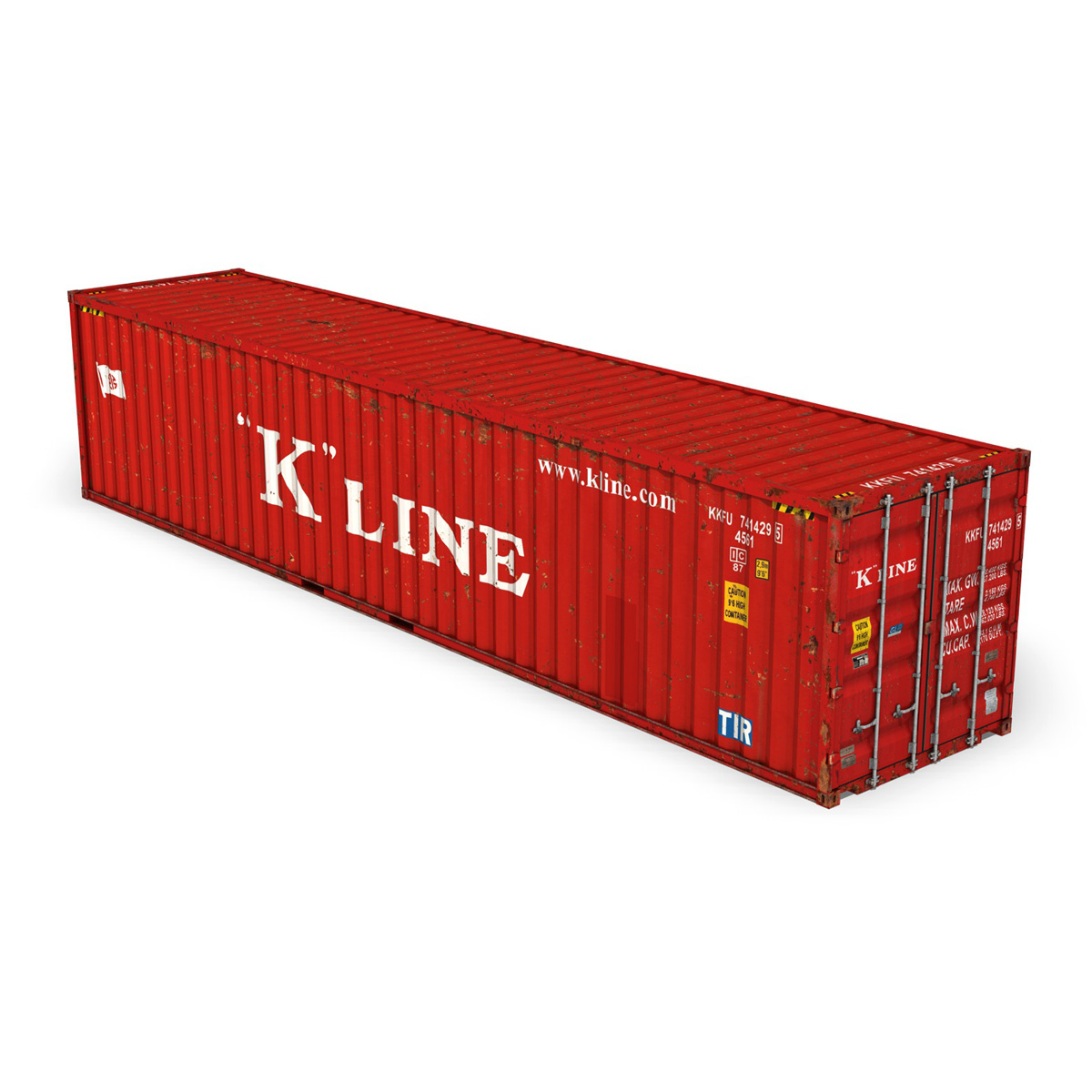 40ft shipping container – k line 3d model 3ds fbx lwo lw lws obj c4d 265116