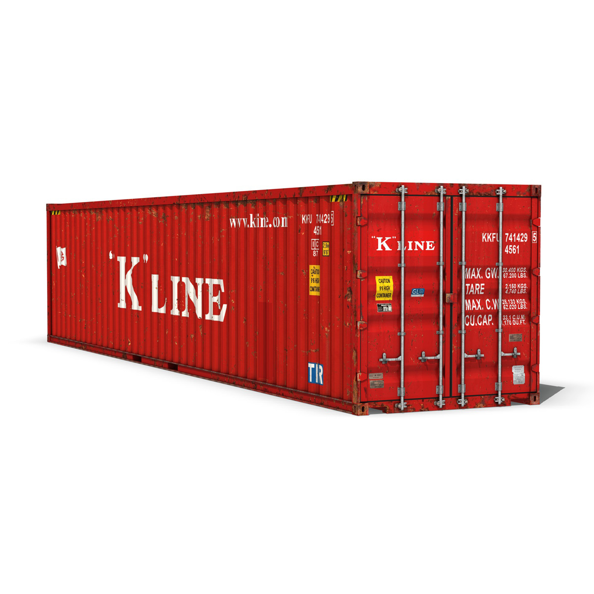40ft shipping container – k line 3d model 3ds fbx lwo lw lws obj c4d 265117