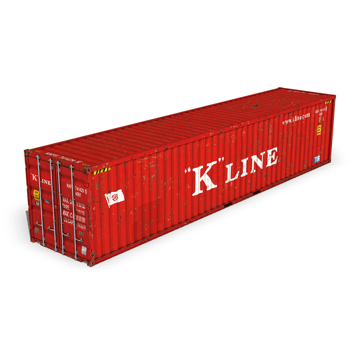 40ft shipping container – k line 3d model 3ds fbx lwo lw lws obj c4d 265118
