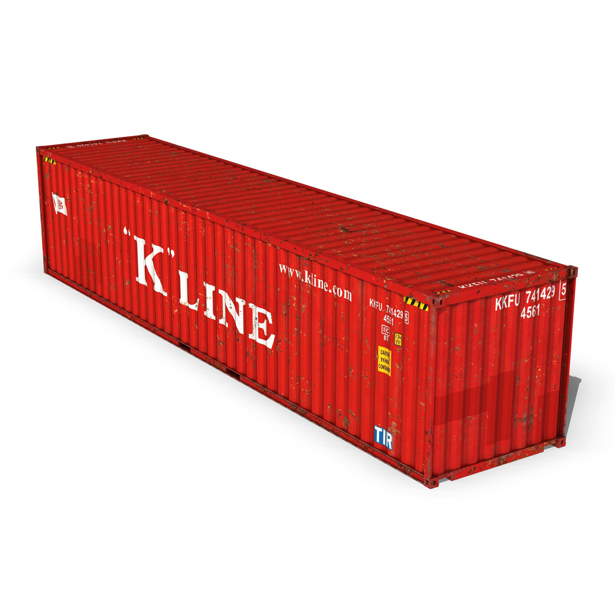 40ft shipping container – k line 3d model 3ds fbx lwo lw lws obj c4d 265119