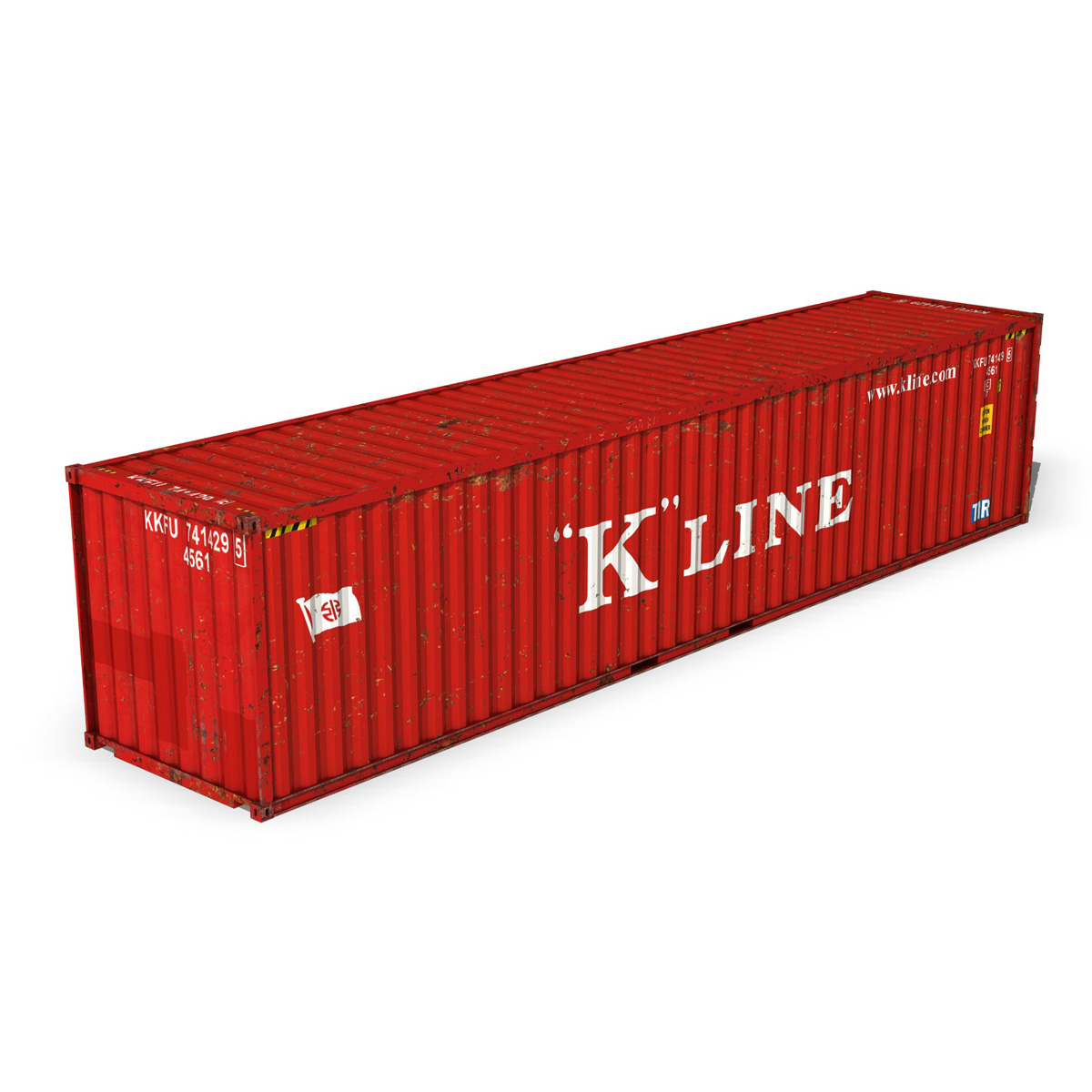 40ft shipping container – k line 3d model 3ds fbx lwo lw lws obj c4d 265120