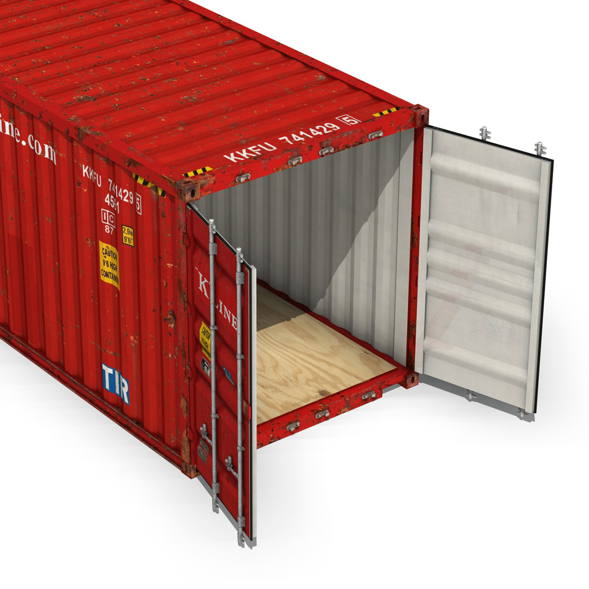 40ft shipping container – k line 3d model 3ds fbx lwo lw lws obj c4d 265122
