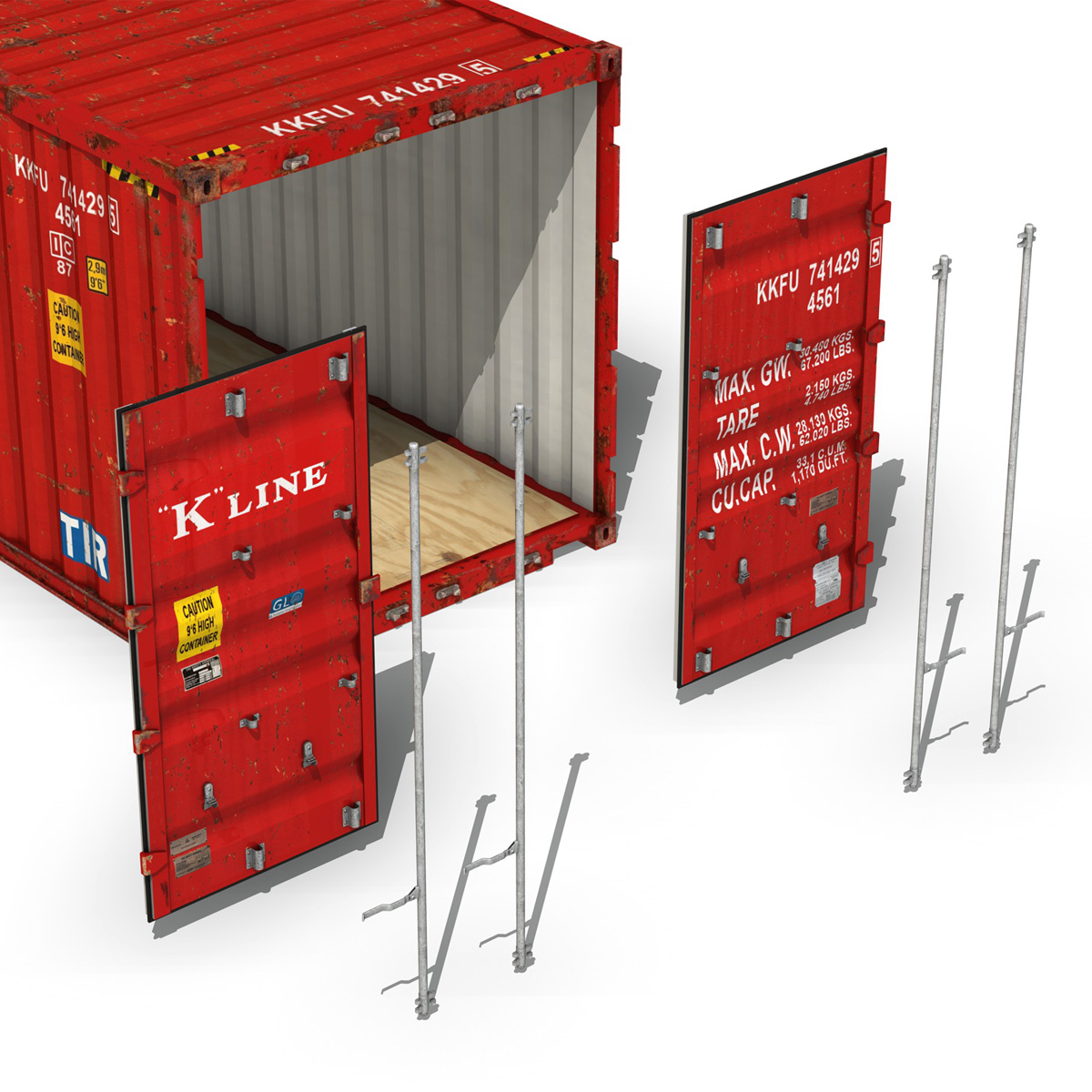 40ft shipping container – k line 3d model 3ds fbx lwo lw lws obj c4d 265123