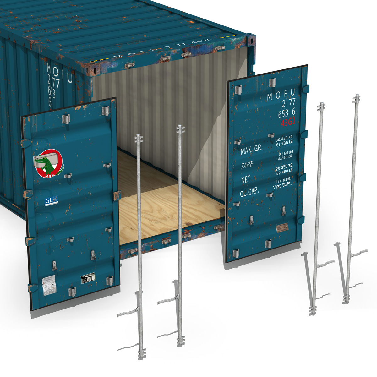 40ft shipping container – mol 3d model 3ds fbx lwo lw lws obj c4d 265140
