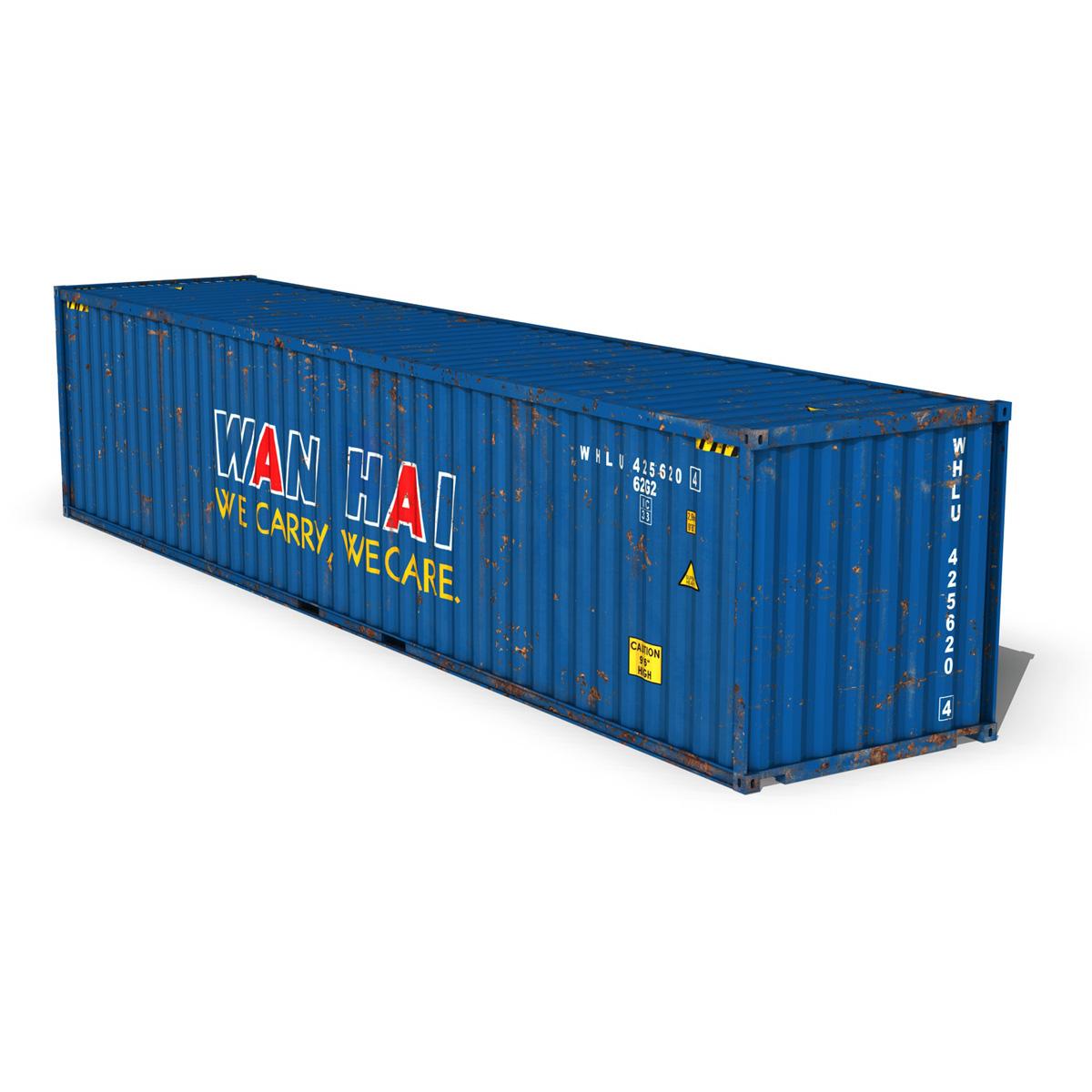 40ft тээврийн чингэлэг - Xan Xian 3d загвар 3ds fbx II lws о о о c4d 265153