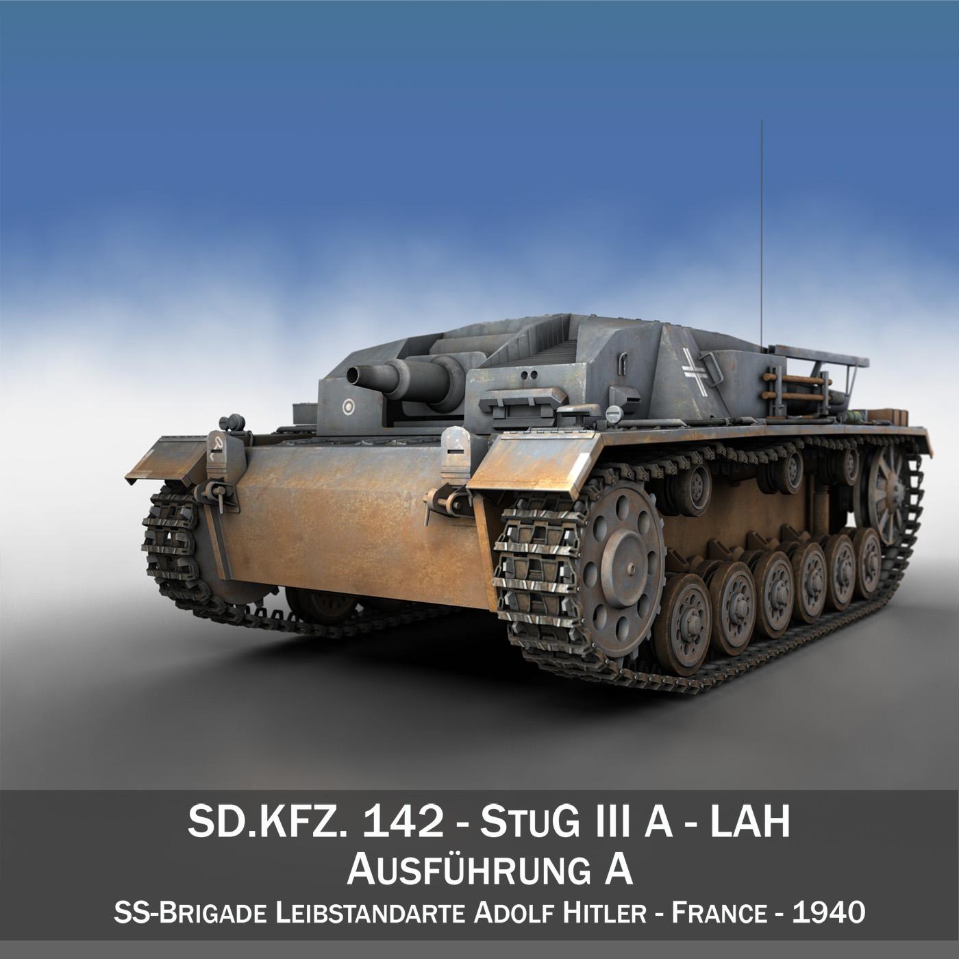 stug iii – ausf.a – lah 3d model 3ds fbx lwo lw lws obj c4d 265202