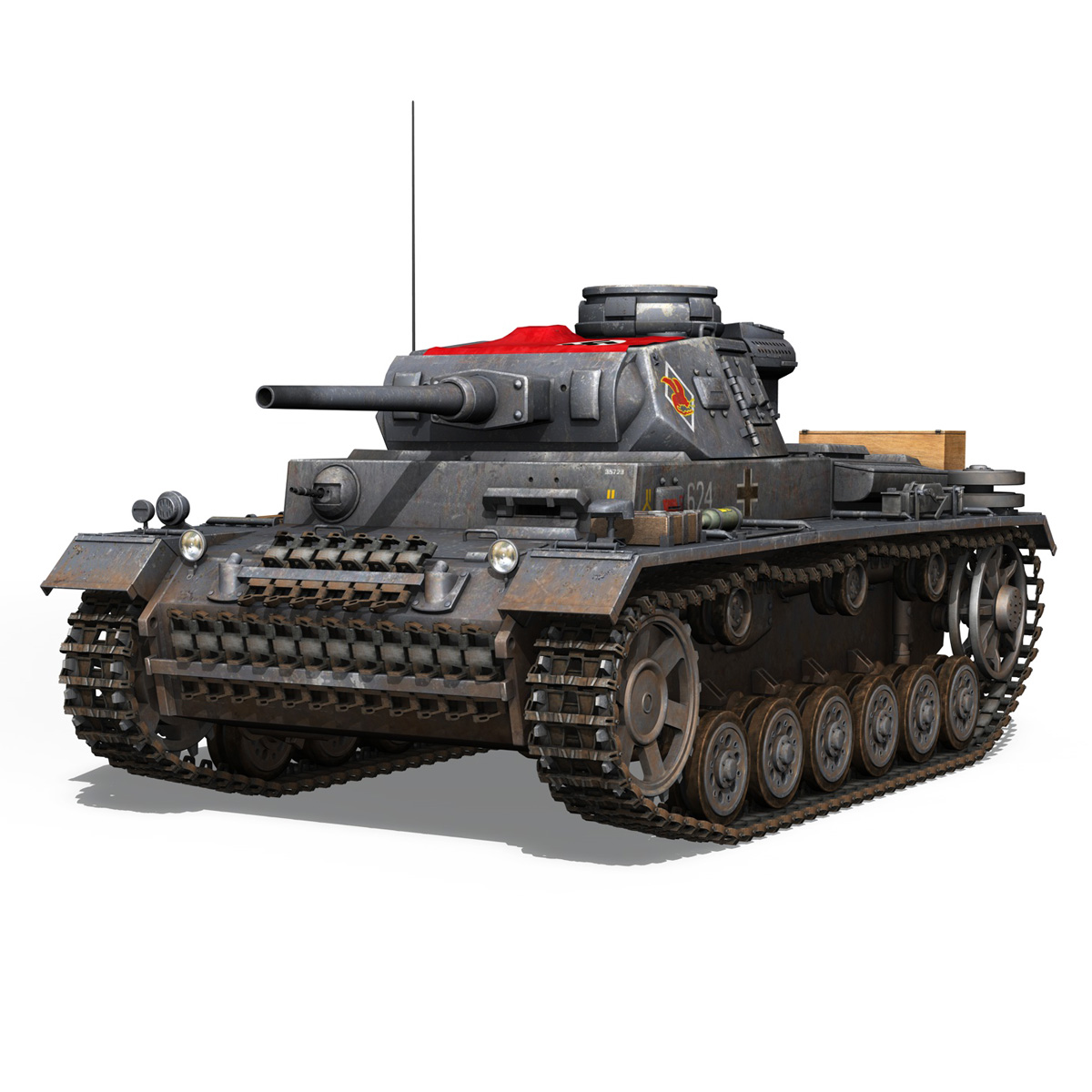 pzkpfw iii – panzer 3 – ausf.j – 624 3d model 3ds fbx lwo lw lws obj c4d 265299