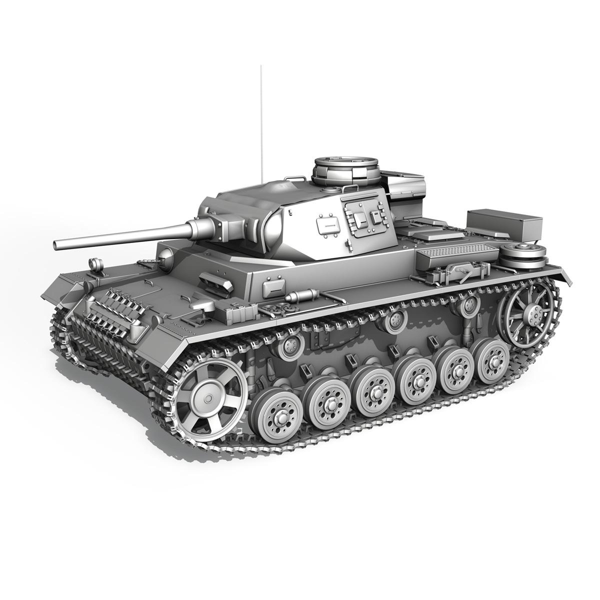 pzkpfw iii – panzer 3 – ausf.j – 624 3d model 3ds fbx lwo lw lws obj c4d 265308