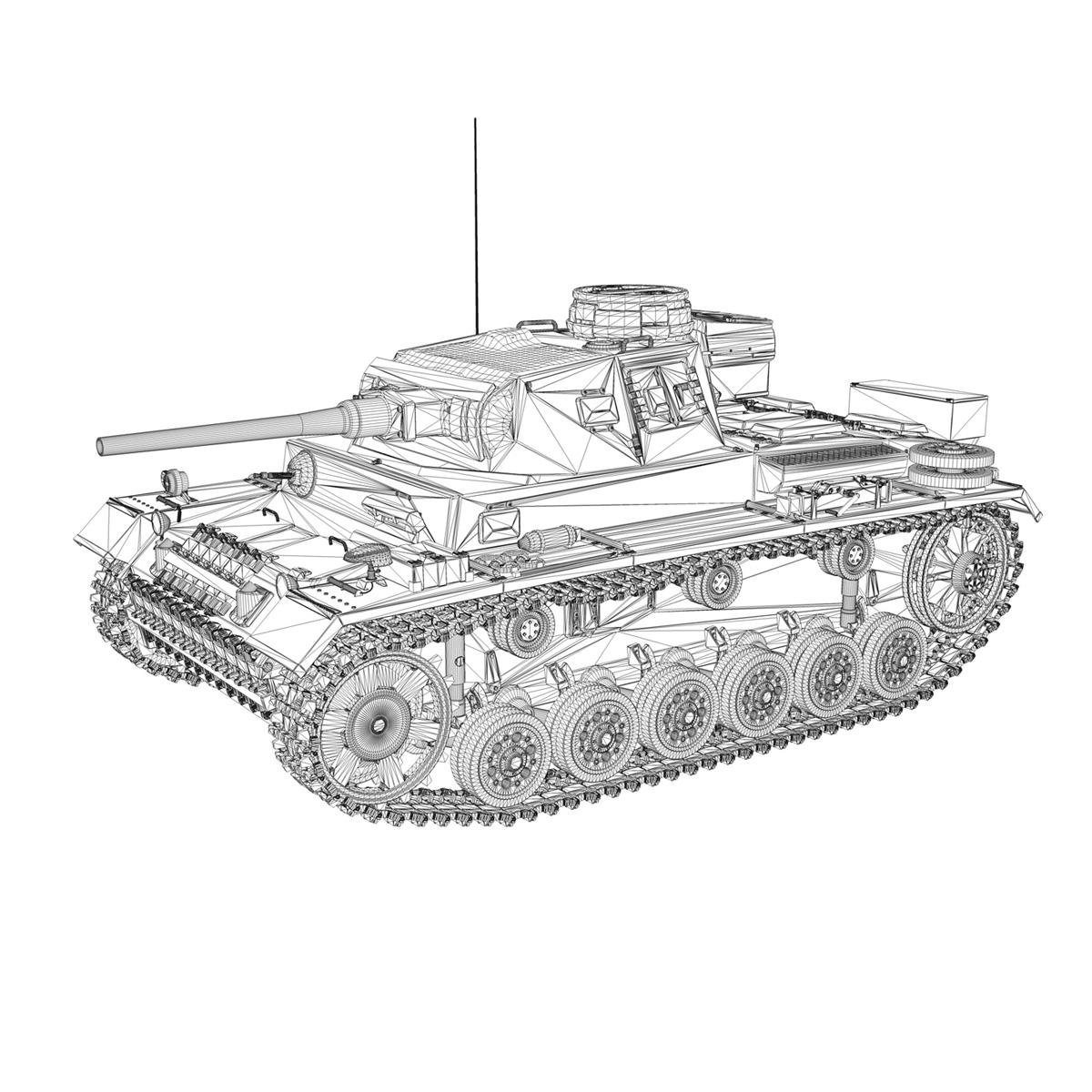 pzkpfw iii – panzer 3 – ausf.j – 624 3d model 3ds fbx lwo lw lws obj c4d 265309