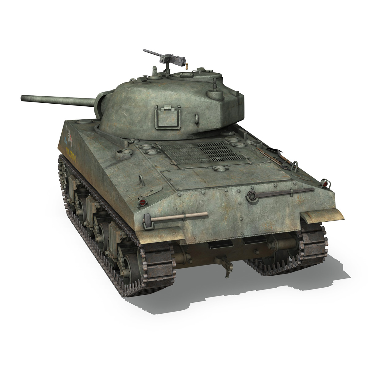 m4a2 sherman – colorado 3d model 3ds fbx lwo lw lws obj c4d 265319