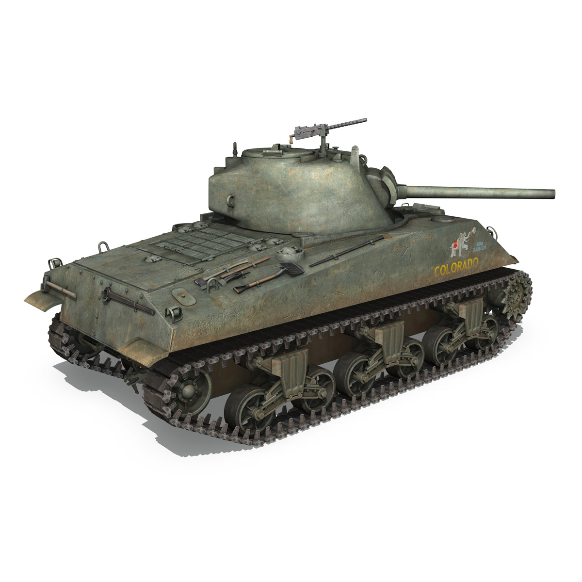 m4a2 sherman – colorado 3d model 3ds fbx lwo lw lws obj c4d 265320
