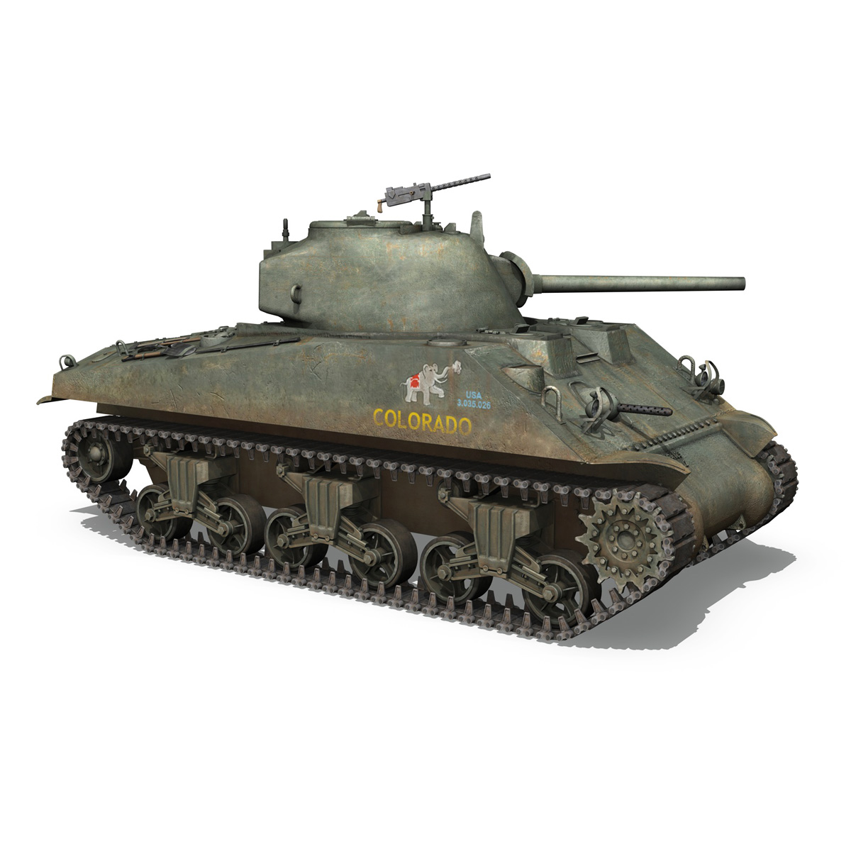 m4a2 sherman – colorado 3d model 3ds fbx lwo lw lws obj c4d 265321