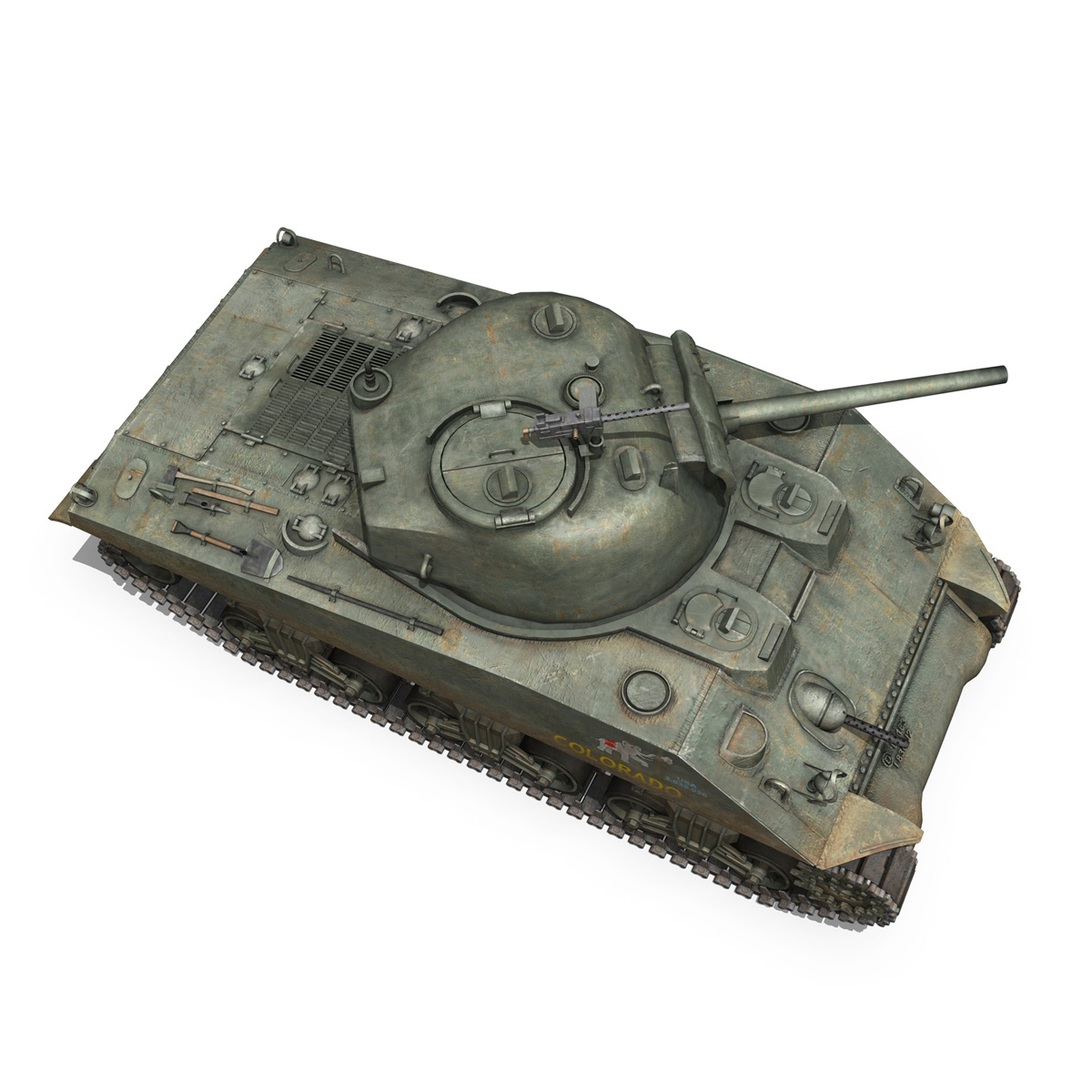 m4a2 sherman – colorado 3d model 3ds fbx lwo lw lws obj c4d 265322
