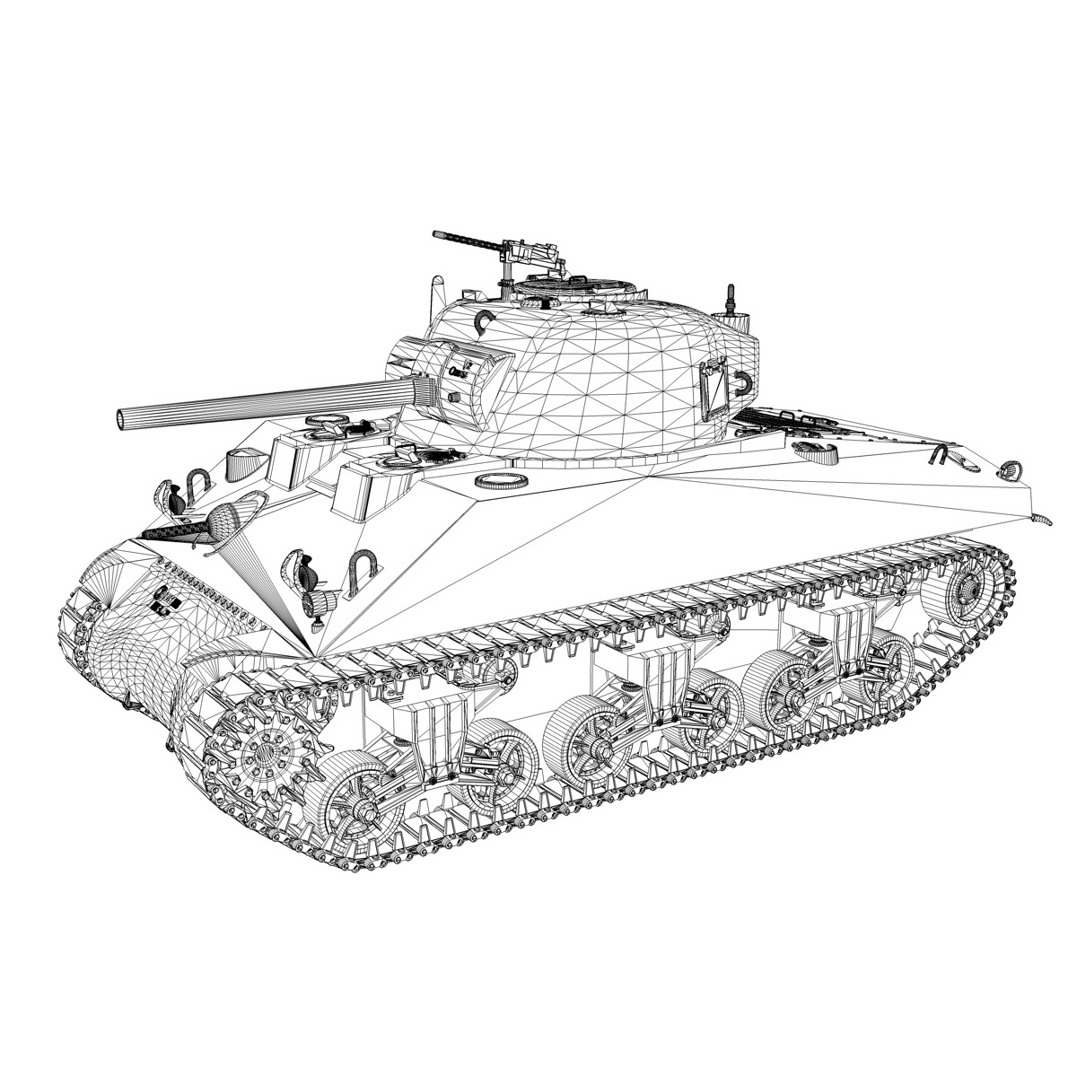 m4a2 sherman – colorado 3d model 3ds fbx lwo lw lws obj c4d 265325