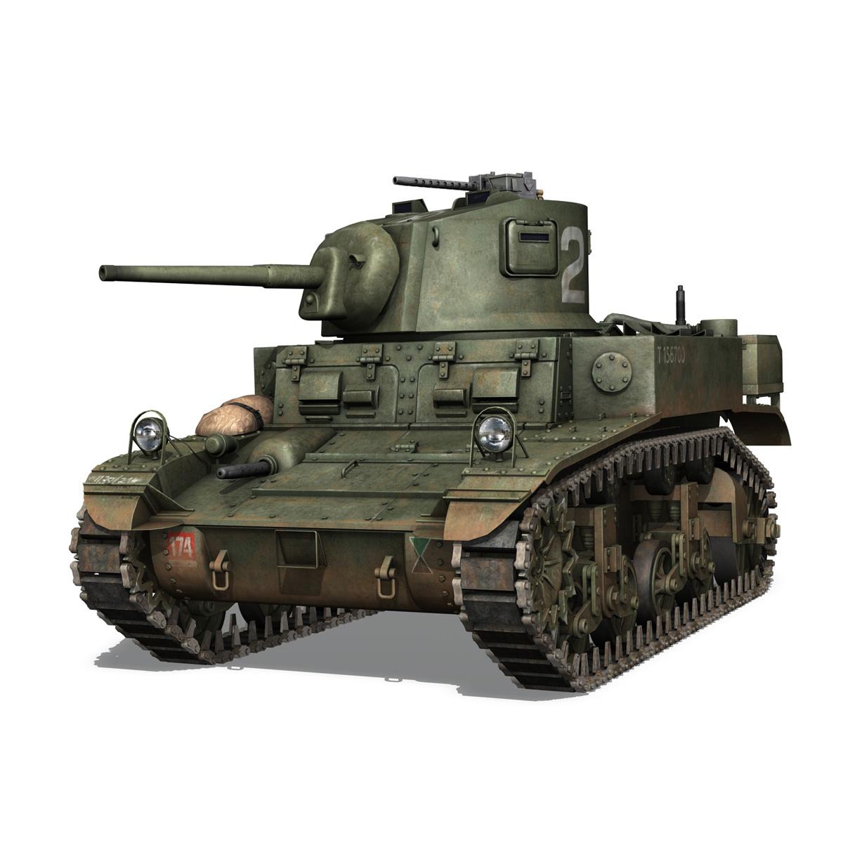 m3a1 light tank stuart – 156700 3d model c4d fbx lwo lw lws obj 3ds 265337