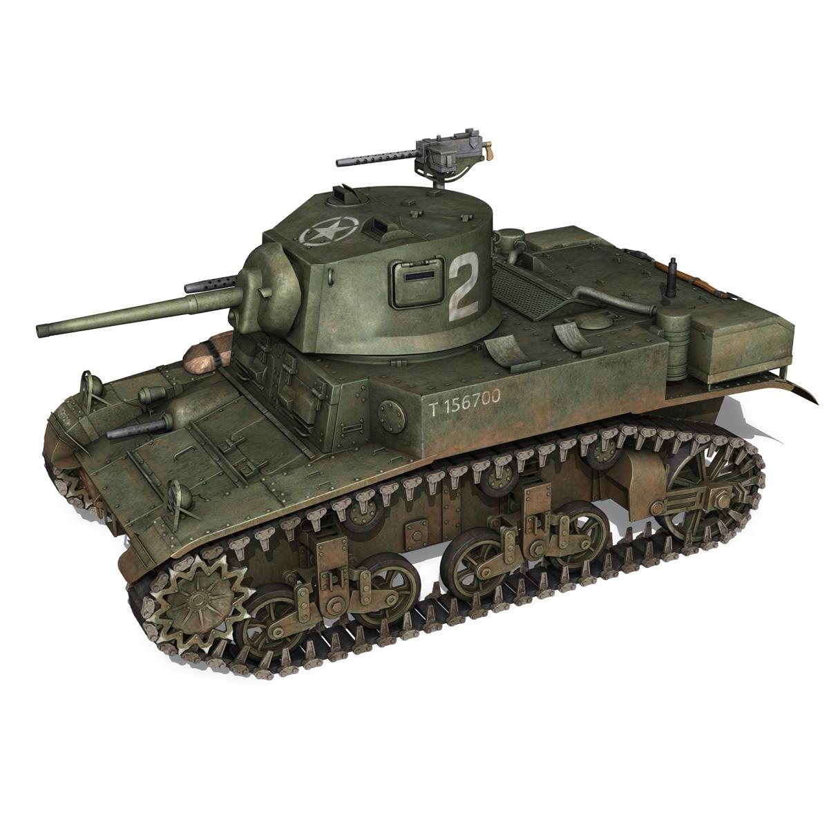 m3a1 light tank stuart – 156700 3d model c4d fbx lwo lw lws obj 3ds 265338