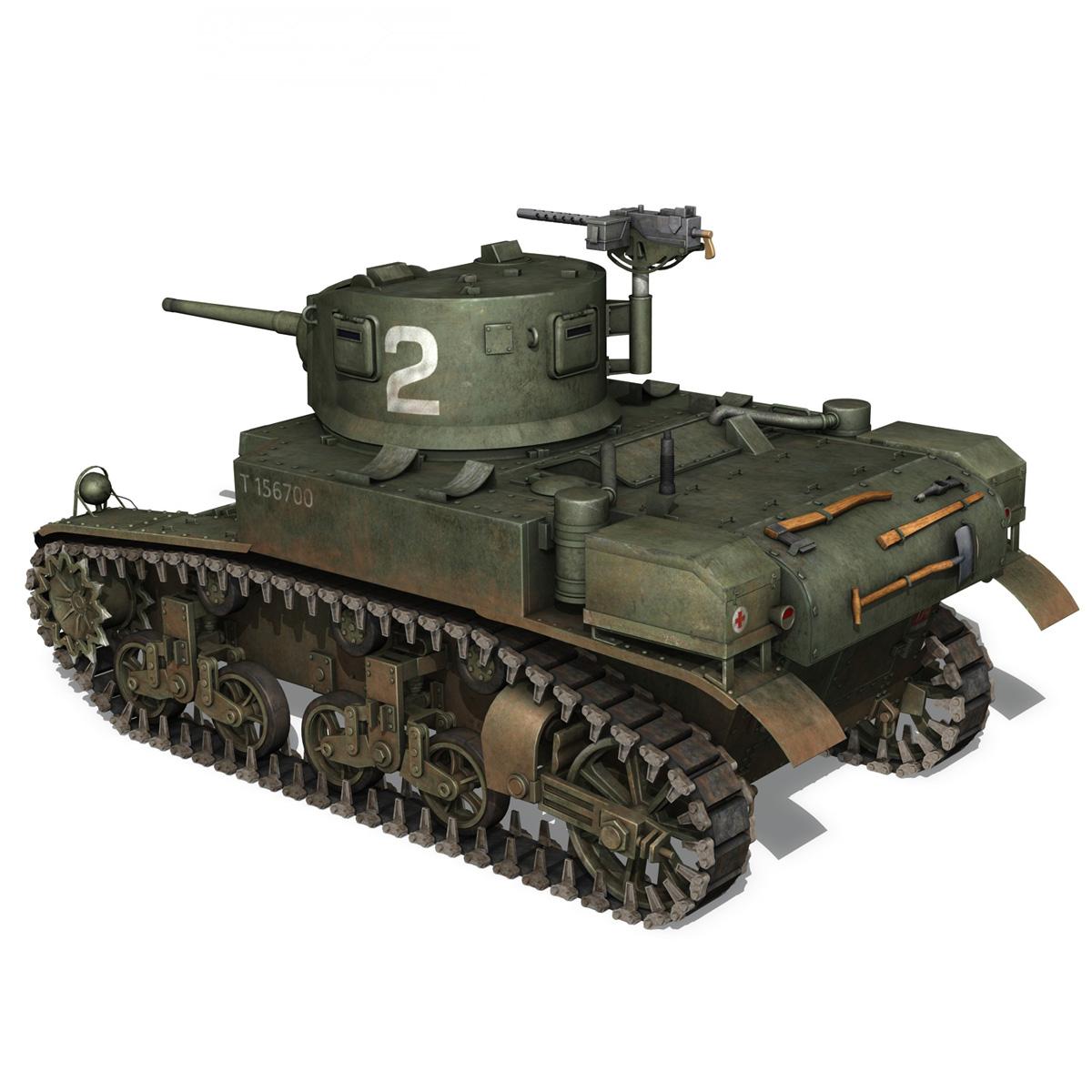 m3a1 light tank stuart – 156700 3d model c4d fbx lwo lw lws obj 3ds 265339