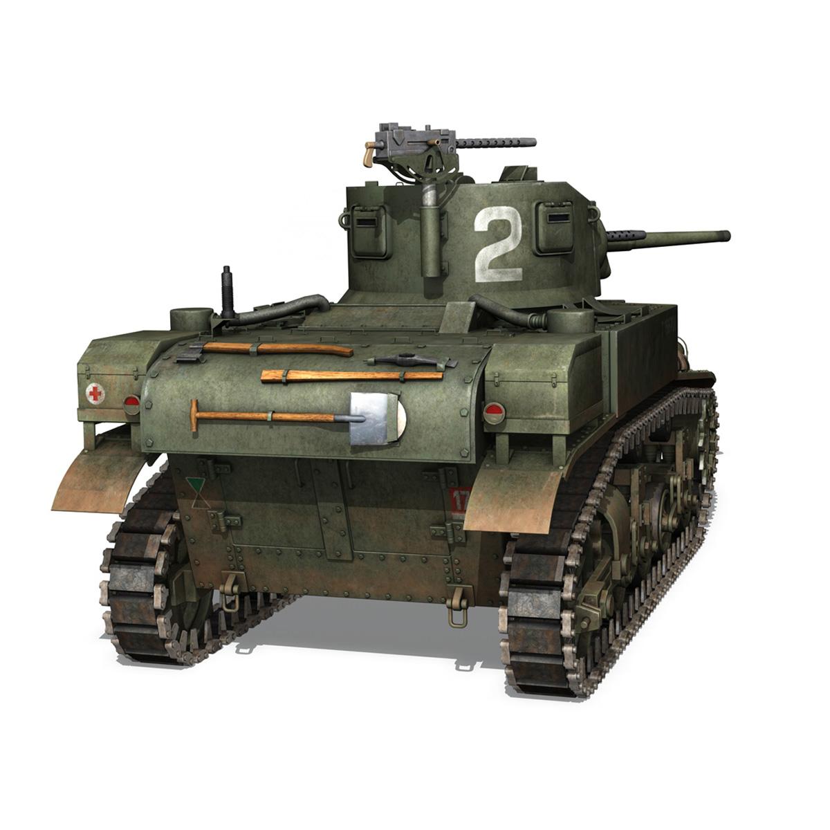 m3a1 light tank stuart – 156700 3d model c4d fbx lwo lw lws obj 3ds 265340