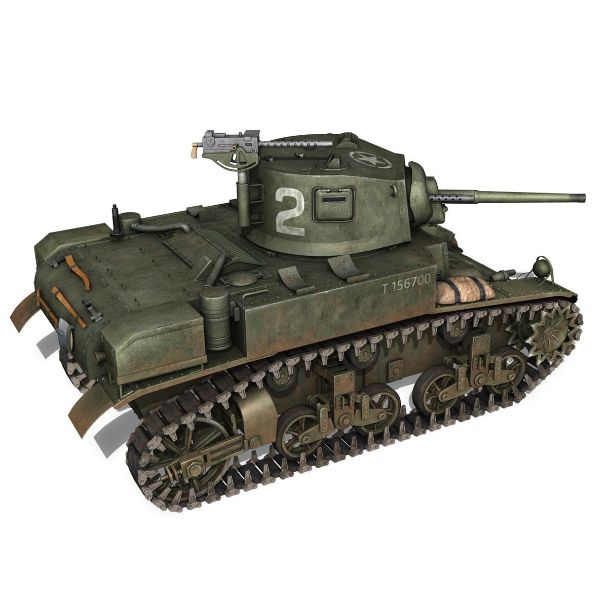 m3a1 light tank stuart – 156700 3d model c4d fbx lwo lw lws obj 3ds 265341