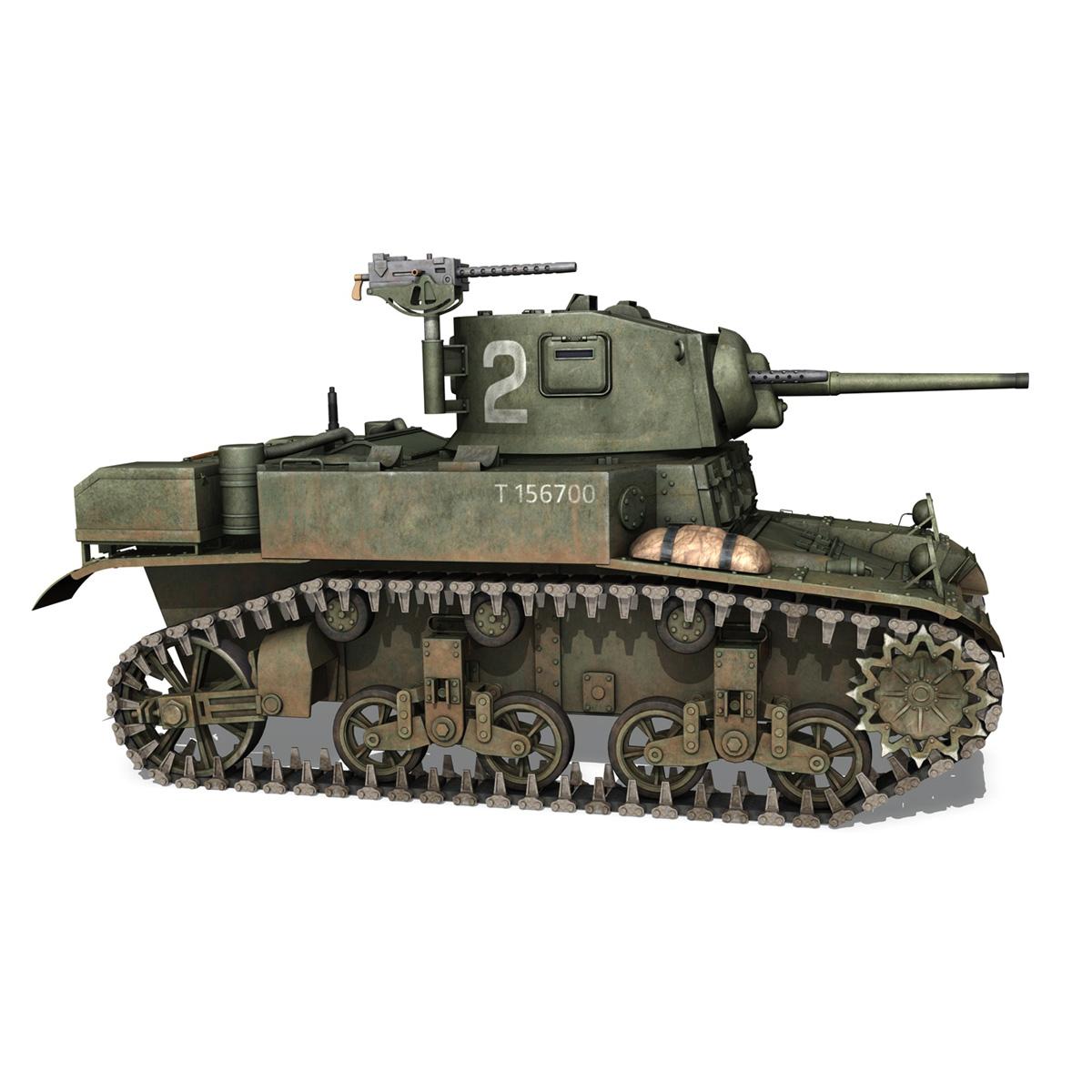 m3a1 light tank stuart – 156700 3d model c4d fbx lwo lw lws obj 3ds 265342