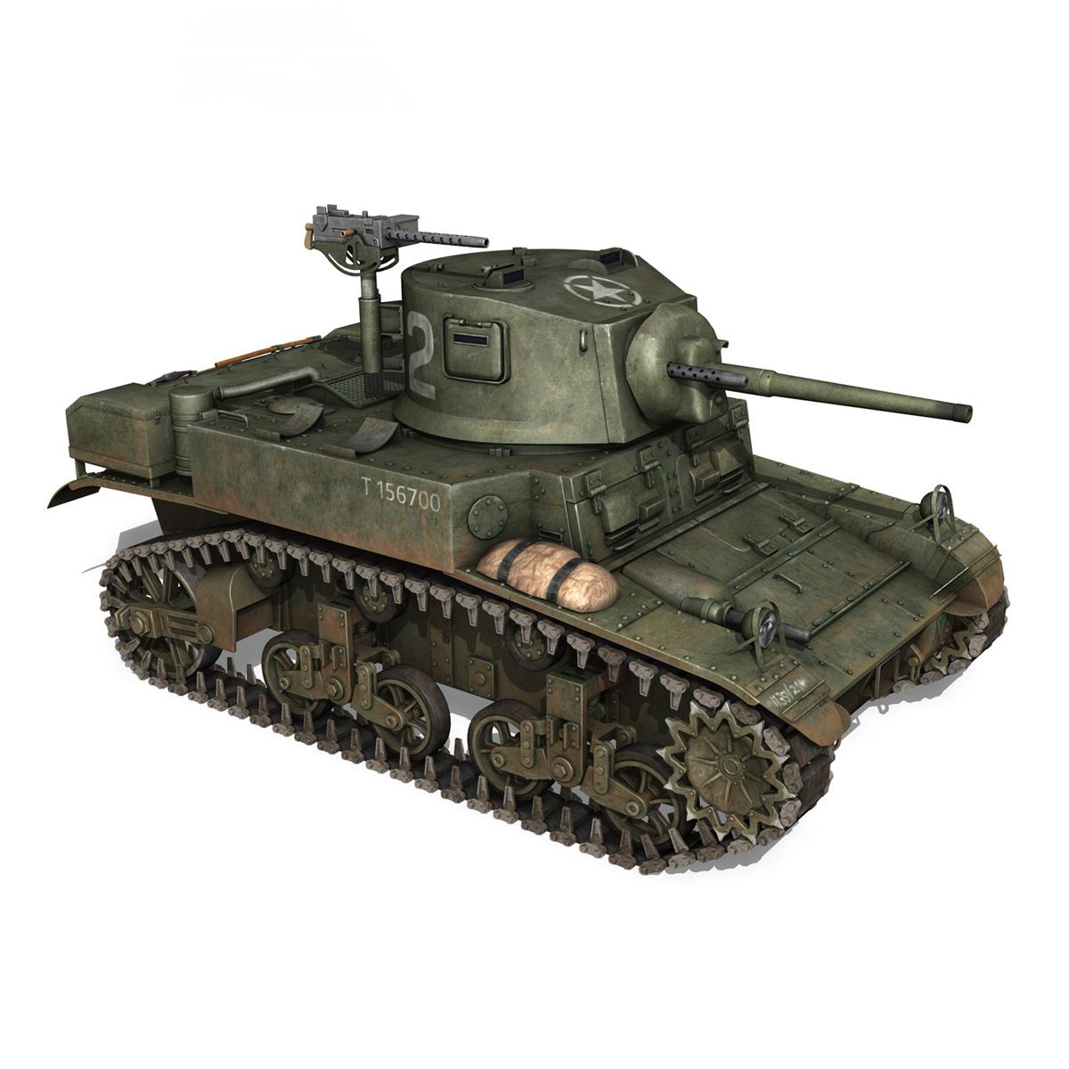m3a1 light tank stuart – 156700 3d model c4d fbx lwo lw lws obj 3ds 265343