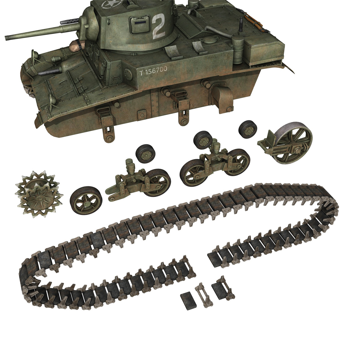 m3a1 light tank stuart – 156700 3d model c4d fbx lwo lw lws obj 3ds 265344